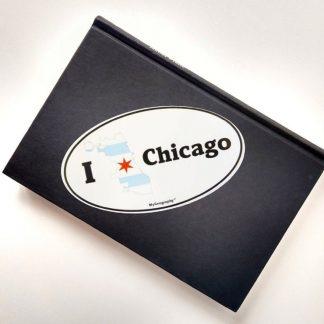 Chicago bumper sticker notebook