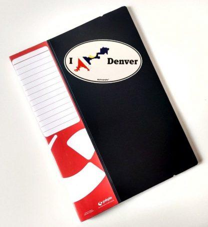 Denver bumper sticker notebook